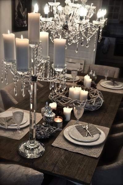 17 best images about candle lovers on pinterest for Silver centerpieces for dining table