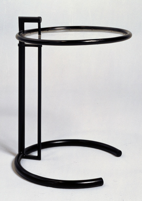 Eileen Gray Adjustable Table 1926 1929 Note The Open Arc Base To Pull