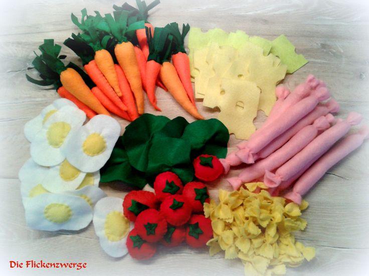 Filz Obst- und Gemüse für Kaufladen von Die Flickenzwerge auf DaWanda.com