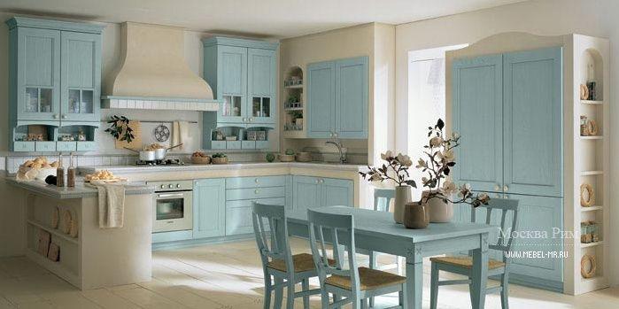 Blue kitchen group Village BLUE by Arrital S.p.A., Italy.  Голубая кухня Village BLUE от итальянского производителя Arrital S.p.A.  #designinterior #interior #decor #mebelmr