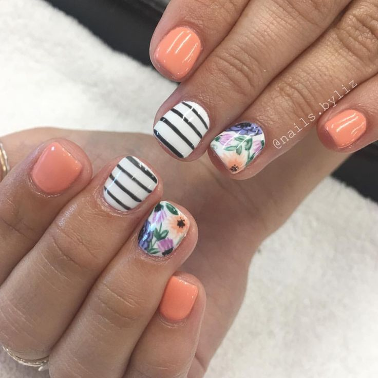 """480 Likes, 11 Comments - Liz Henson (@nails.byliz) on Instagram: """"Oh spring inspo from @nailsby.katie . . . . #nails #gelnails #nailstagram #spring…"""""""