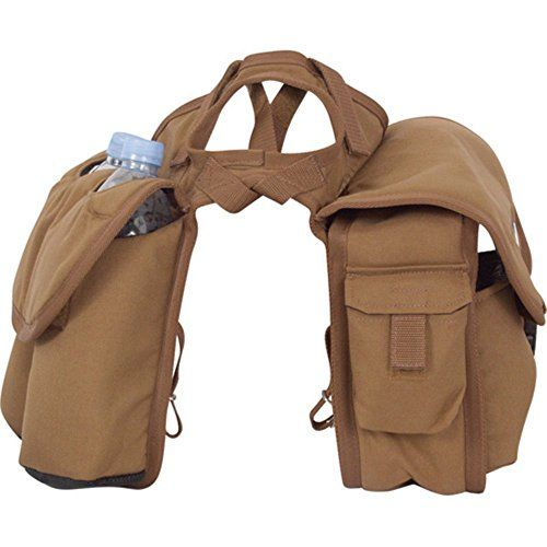 Cashel Quality Deluxe Medium Horse Saddle Pommel Horn Bag Insulated Padded Pockets Two Water Bottle Pockets Camera or Cell Phone Pocket 600 Denier Material Size: Medium Color: Brown