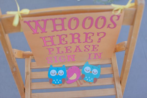{BN Black Book of Parties} Pink Woodland Owl Baby Shower - A Blissful Nest