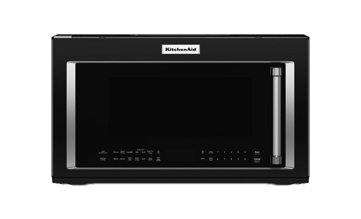 KitchenAid KMHC319E 30 Inch Wide 1.9 Cu. Ft. Over-the-Range Microwave with 1000W Black Microwave Ovens Microwave Over-the-Range