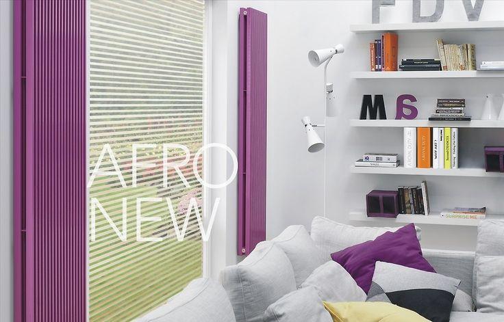Modny, nowoczesny salon, którego idealnym wykończeniem będą stylowe grzejniki w kolorze fioletowym - czemu nie?! Każda kobieta o tym marzy.