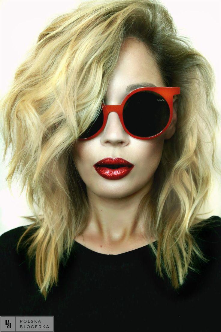 Czerwone Usta:MAC Glitter Red Fioletowe…