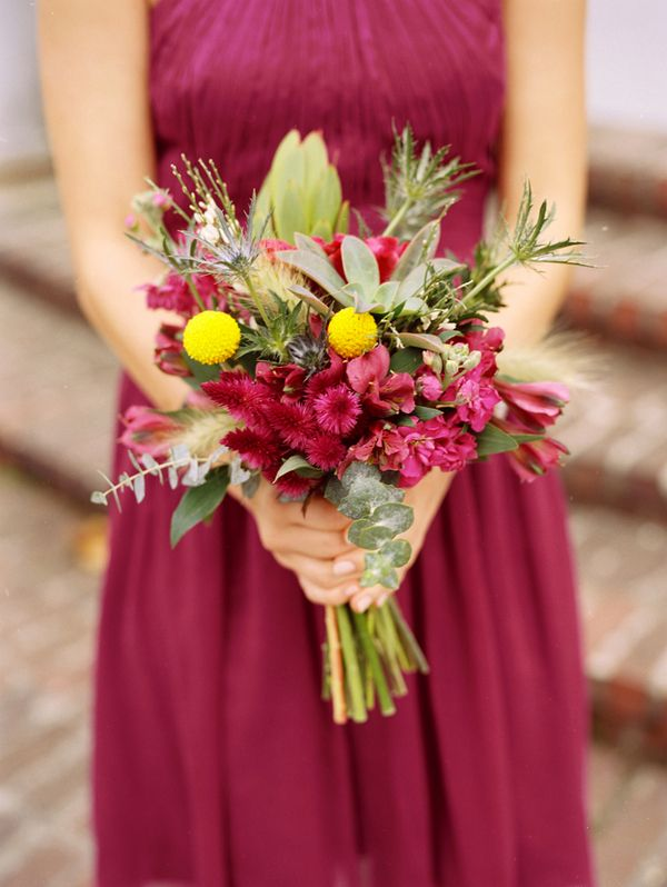 Pretty when flowers match color of dress plus other colors In bouquet too