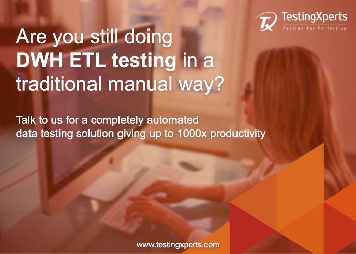 Are you still doing #DataWarehouse #ETL #Testing in a traditional #manual way? Talk to us for a completely #automated #data #testing #solution giving up to 1000x #productivity. Connect with  us