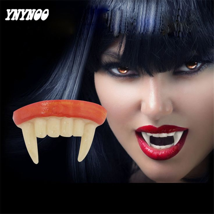 YNYNOO 5Pcs/lot Halloween Cosplay Dentures Zombie Vampire Teeth Ghost Devil Fangs Props Costume Party False tooth Prank Toys #Affiliate