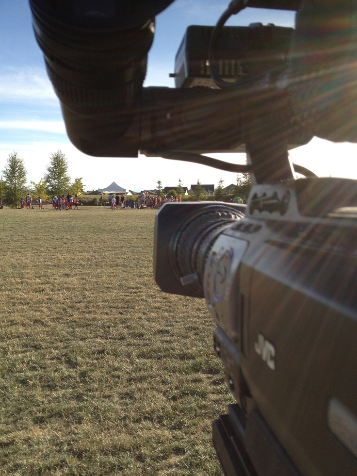 on location at Field Lacrosse Provincials in Okotoks...