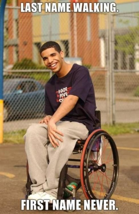 Degrassi: Drake, Giggle, Degrassi, Funny Stuff, Humor, Funnies, Things, Wheelchair Jimmy