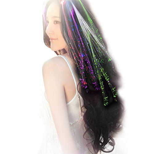 £3.59 (60% Off) on LootHoot.com - Linxii 10pcs lights up hair colour in dark accessories for girls (5 colors)