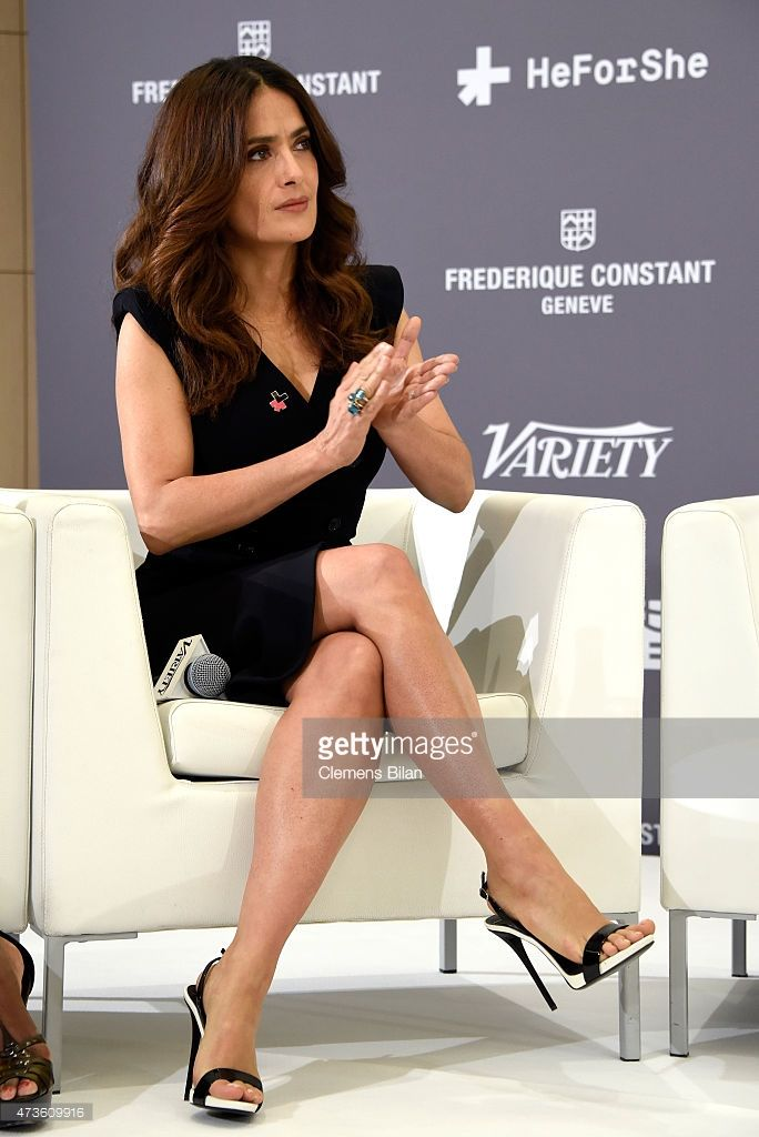 Salma Hayek attends the Variety Celebration of UN Women at Radisson Blu on May 16, 2015 in Cannes, France.