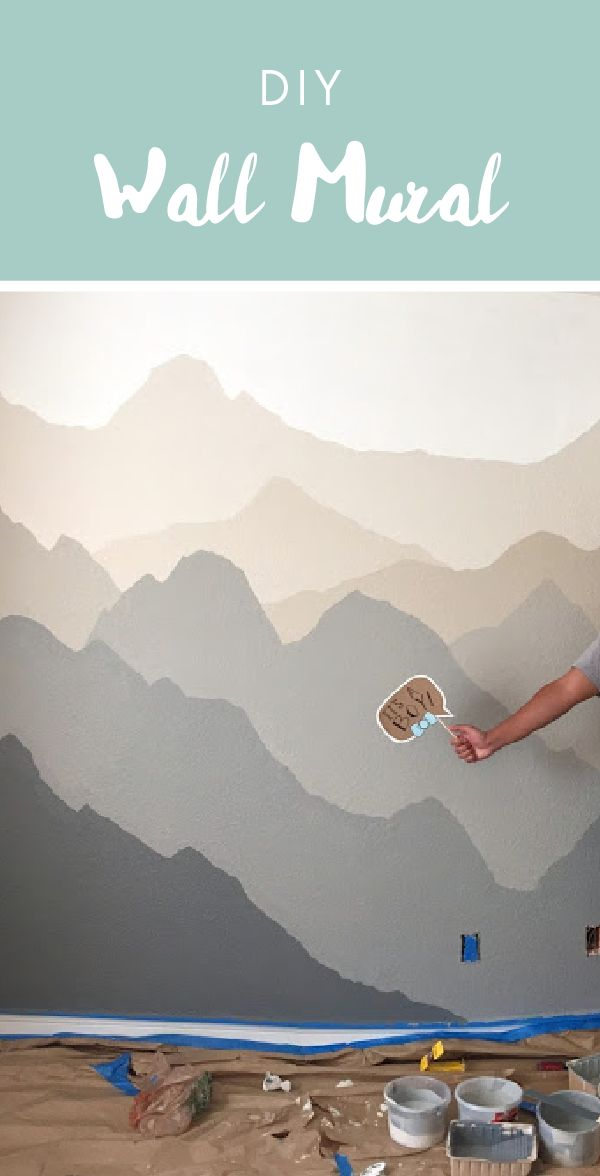 Best 25 nursery murals ideas on pinterest nursery wall for Diy mountain mural