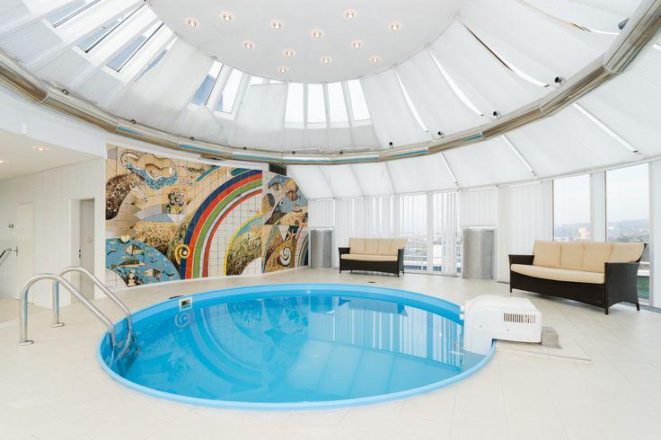 #bazén Privátní bazén v Prezidentském apartmá