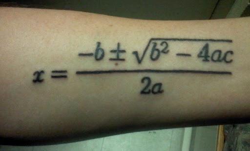 Quadratic formula | Tattoos and Piercings | Pinterest