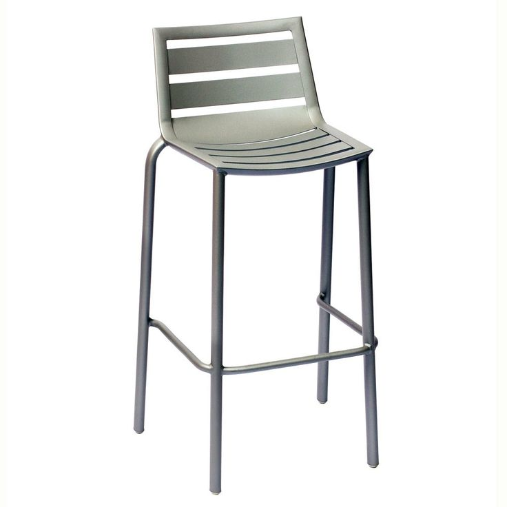 BFM Seating South Beach DV550TS Stackable Outdoor Aluminum Bar Height Chair