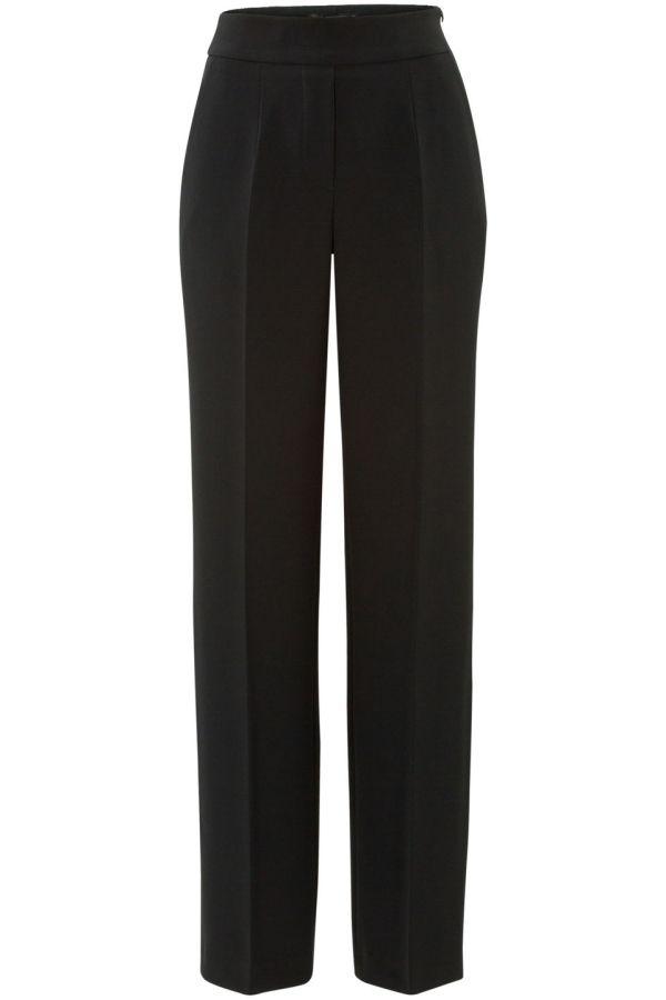 Steps Dames pantalon met wijde pijpen Zwart