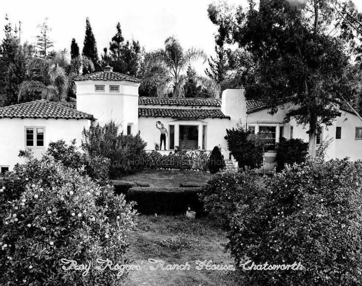 The house of Roy Rogers & Dale Evans at their ranch in Chatsworth, ca. mid 1950s. The original address of the house was 9839 Andora Avenue which was the entrance to the ranch. The house still exists but the address Is now 22832 W. Trigger Street and is privately owned.