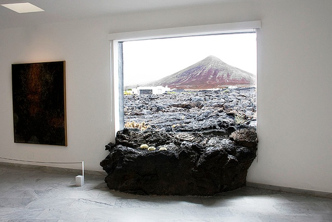 Lava rock in the house. Cesar Manrique's house on Lanzarote
