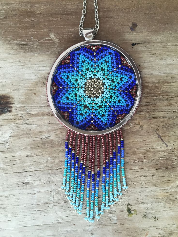 Blue-tiful mexican mandala. Hand made by our team of huichol artisans.  #blue…