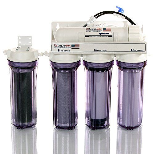 LiquaGen - 5 Stage Heavy Duty - Aquarium Reef/Deionization Reverse Osmosis (RO/DI) Value Water Filter System w/ 100 GPD Capacity * To view further for this item, visit the image link.