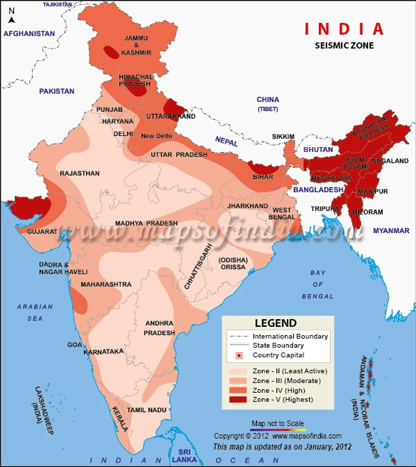 seismic zoning map of india seismic pertaining to of the nature of or
