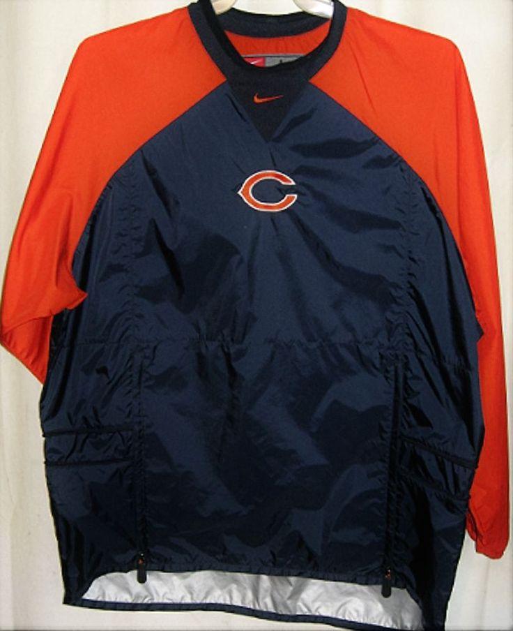 FREE U.S. Shipping! Nike NFL Chicago Bears Pullover Jacket! Size: Adult Large. #Nike #ChicagoBears