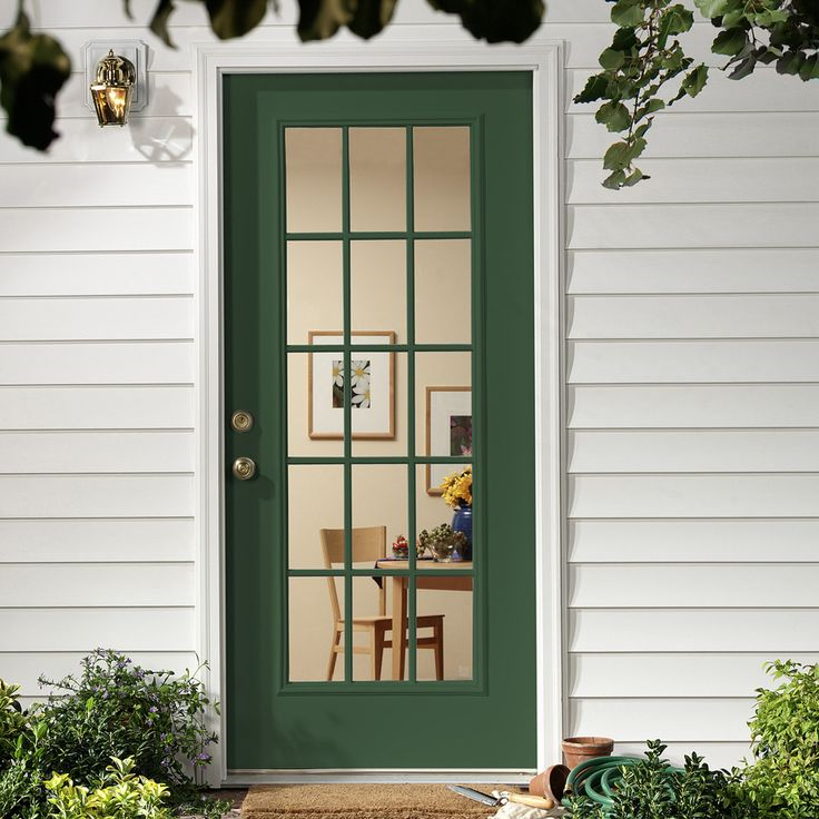 Take Your Exterior Door From Plain To Personalized With A Bold Color. A  Rich Hue
