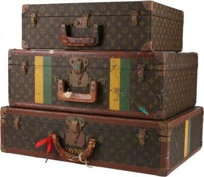 One Kings Lane - Chessy Rayner - Louis Vuitton Suitcases, Set of 3 from One Kings Lane. Saved to bagLOVE.
