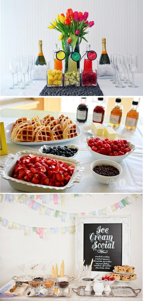 67 best images about bridal shower trends on pinterest for Food bar trends