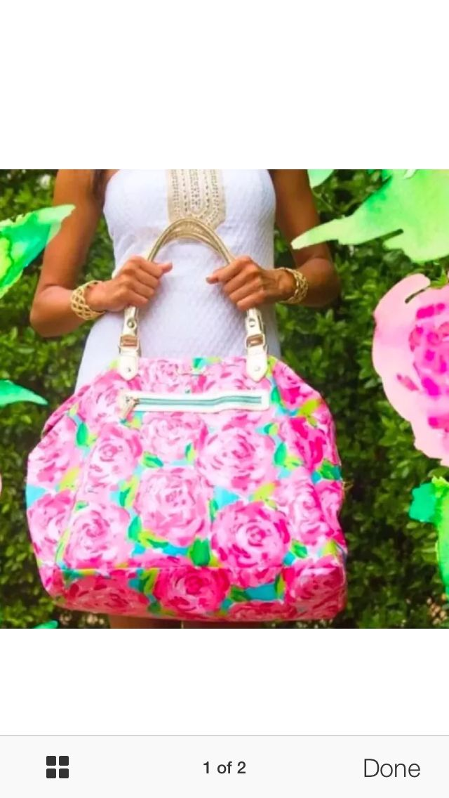 Lilly Pulitzer First Impressions Travel Bag