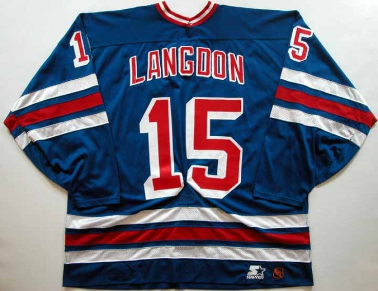 e348c2687 ... 36 Glenn Anderson Royal Blue Home Authentic USA Flag Stitched NHL  Jersey Jersey City Armory Darren Langdon 1996-97 New York Rangers Game Worn  Jersey ...