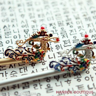 ★HANBOK-BOUTIQUE NEW HAIRSTICK BI-NYEO M-B-002 Korean Traditional Hair ACCESSORY[2. SILVER]