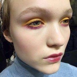 Isola Marras catwalk makeup look