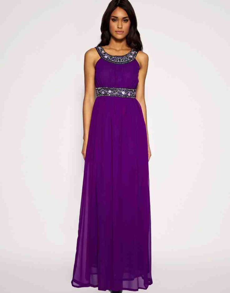 28 best purple wedding dress images on pinterest wedding for Purple maxi dresses for weddings