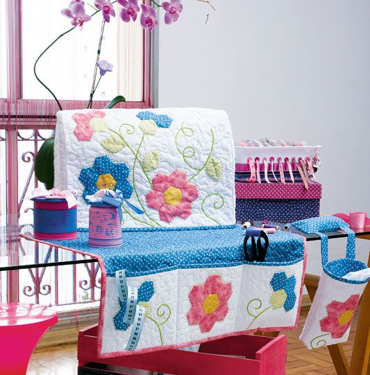 Sewing machine cover and organizer.