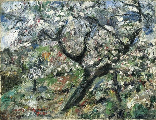 Lovis Corinth Blühender Apfelbaum (Apple tree in blossom), 1922 Oil on Canvas ( 70 x 90 cm.)