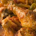 Atkins Cajun Chicken with Okra. Not your ordinary fried chicken.
