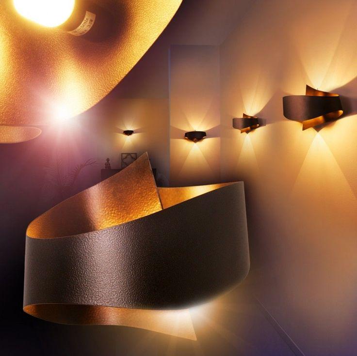 Wandleuchte Design Wandstrahler Lampe Wandlampe Flurlampe Leuchten Zimmer braun | Möbel & Wohnen, Beleuchtung, Wandleuchten | eBay!