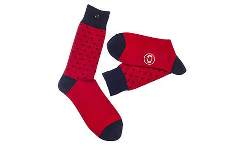 The Henry Red & Navy Men's Socks #red #navy #socks #menswear #dapper