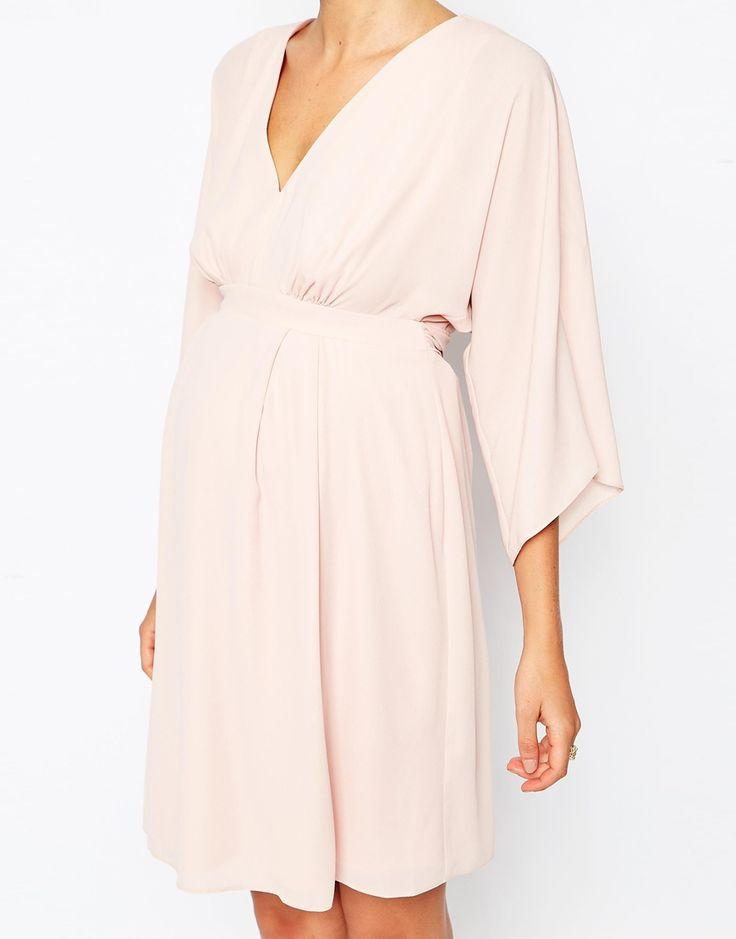Image 3 ofASOS Maternity Mini Dress With Obi Wrap Belt