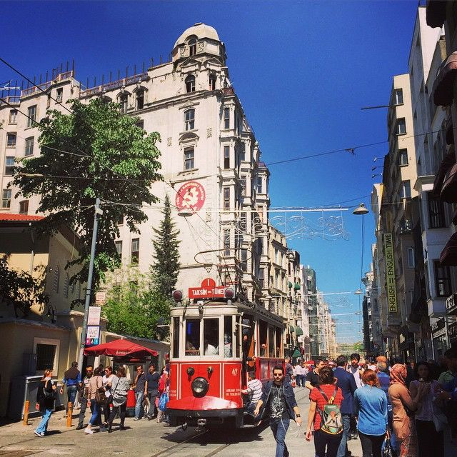 The 10 Most Instagrammed Tourist Attractions in the World - İstiklal Avenue, Istanbul from InStyle.com