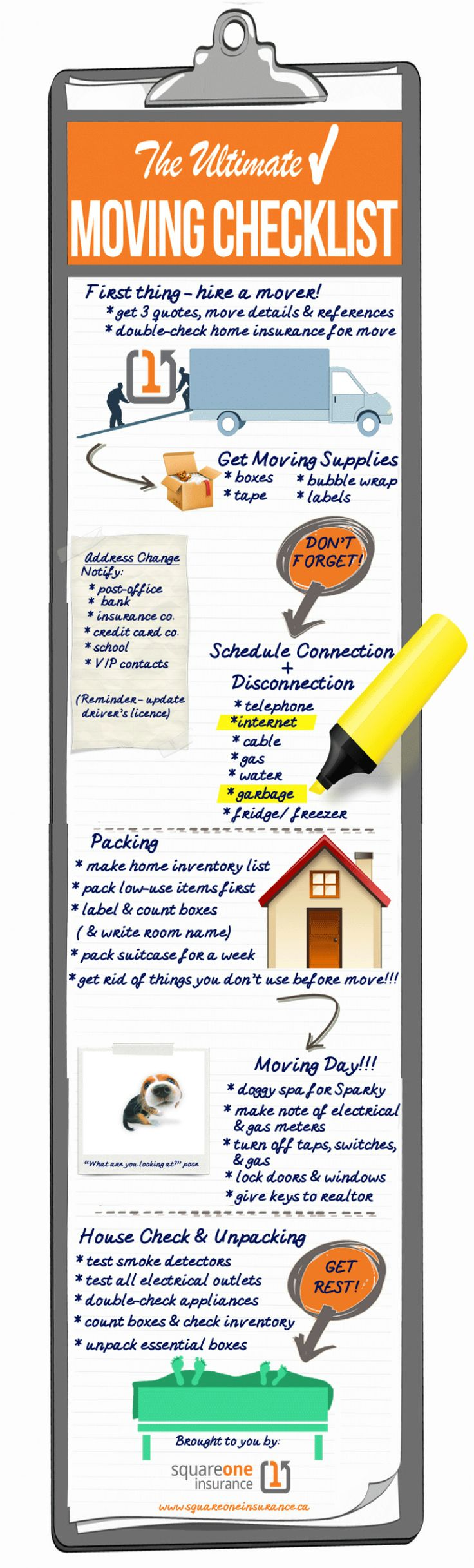 The Ultimate Moving Checklist Infographic consider changing your subject