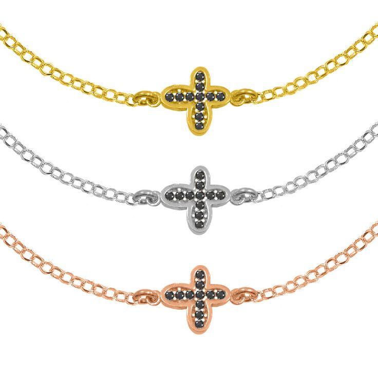 Cross Bracelet Sterling Silver 925,Rose Gold Bracelet,Yellow Gold Bracelet,Tiny Cross Bracelet,Birthday Gift,Bridesmaid Gift,Elegant by AmorAmorSilver on Etsy