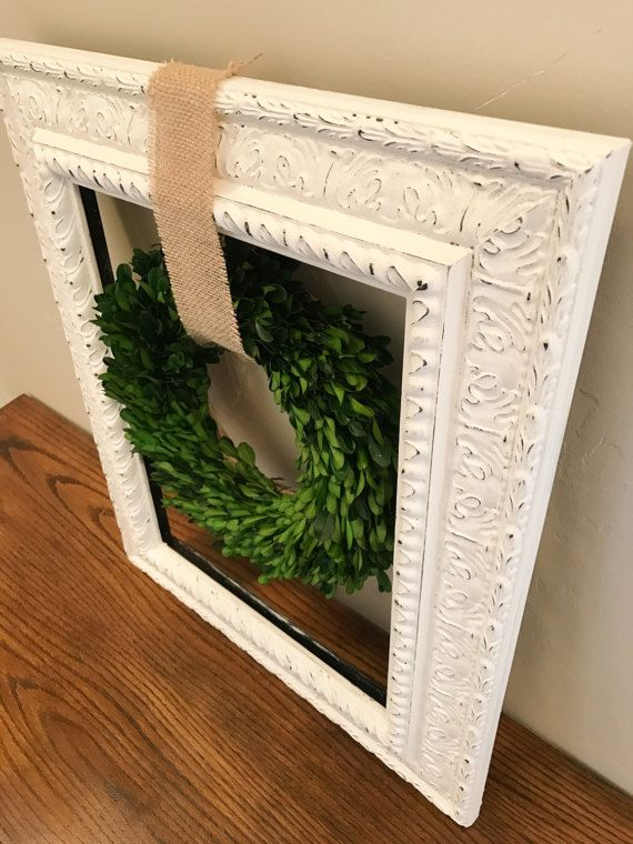 Farmhouse Wreath Boxwood Wreath Rustic Gallery Wall by BirdieGoGo