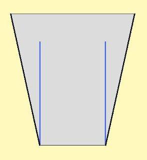 Закрытый участок остается до левой на чертеже. Сокращение красной вдоль линии, используя базу насколько половина кольца из закрытой стороне ...