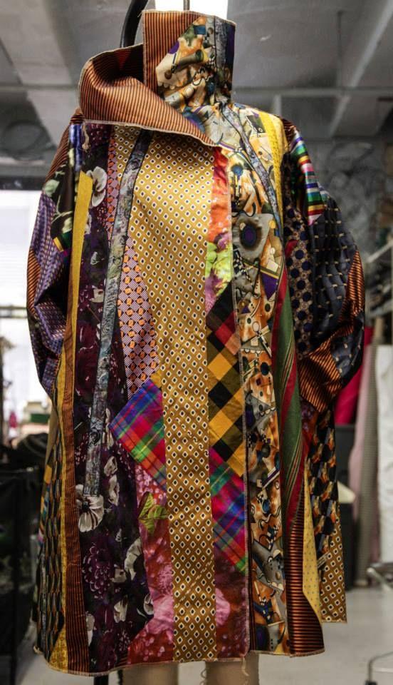 KOOS VAN DEN AKKER made of men's ties in the hands of a Mix Master .  See his website at:  http://koosvandenakker.com/