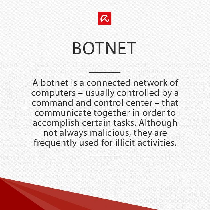 What the heck is a #botnet? Find out more in our glossary! #ITSecurity #infosec