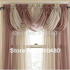 beautiful sheer curtain valance waterfall swag valance window valance Window Treatment W 60 cm * H 50 cm free shipping